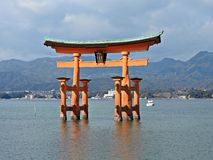 O-torii Gate at Miyajima Island, Hiroshima, Japan Royalty Free Stock Photos