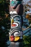 O totem é a herança cultural de primeiros povos da nação Fotos de Stock Royalty Free