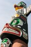 O totem é a herança cultural de primeiros povos da nação Foto de Stock Royalty Free