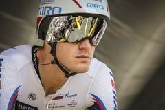 102o Tour de France - ensayo del tiempo - primera fase Fotos de archivo
