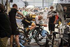 102o Tour de France - ensayo del tiempo - primera fase Foto de archivo