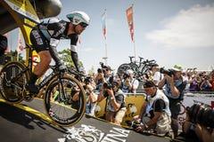 102o Tour de France - ensayo del tiempo - primera fase Imágenes de archivo libres de regalías
