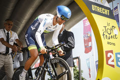102o Tour de France - ensayo del tiempo - primera fase Imagen de archivo libre de regalías