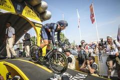102o Tour de France - ensayo del tiempo - primera fase Foto de archivo libre de regalías