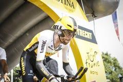102o Tour de France - ensayo del tiempo - primera fase Imagen de archivo