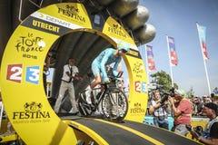 102o Tour de France - ensayo del tiempo - primera fase Imagenes de archivo
