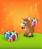 O touro dos desenhos animados Imagem de Stock