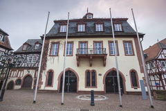 o townhall do obermarkt gelnhausen Alemanha Foto de Stock