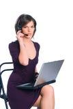 O trabalhador do chamar-centro Imagens de Stock Royalty Free