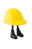 O trabalhador do chapéu duro Fotografia de Stock Royalty Free