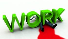 O trabalho é assassinato Imagens de Stock