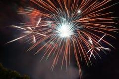 O trabalho do fogo da beleza para comemora Imagens de Stock Royalty Free