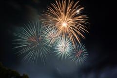 O trabalho do fogo da beleza para comemora Imagem de Stock
