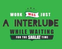 O trabalho era apenas um interlúdio ao esperar o tempo do shalat ilustração royalty free