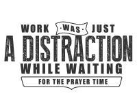 O trabalho era apenas uma distração ao esperar o tempo da oração ilustração royalty free