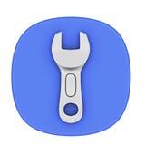 O trabalho utiliza ferramentas o ícone Fotografia de Stock
