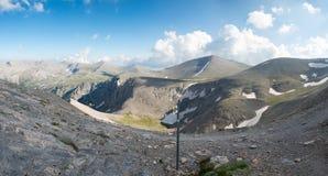 O trailway na cimeira do Monte Olimpo imagens de stock