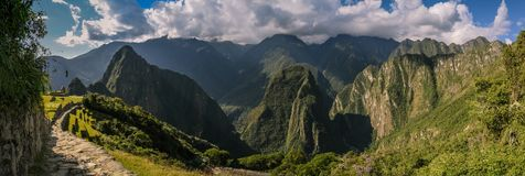 O trajeto ao Machu Picchu fotos de stock