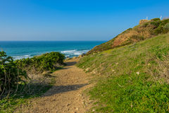 O trajeto desce ao mar Fotografia de Stock