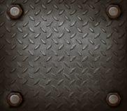 Trajeto do uso duro do metal e do nó para o fundo sujo Imagem de Stock Royalty Free