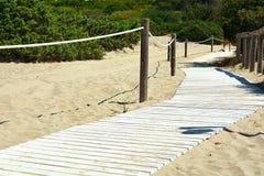 O trajeto na praia Fotografia de Stock