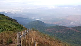 O trajeto no monte e no vale Imagens de Stock