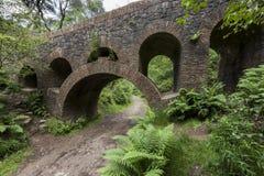 O trajeto sob sete arqueou a ponte em jardins Terraced de Rivington Fotos de Stock Royalty Free