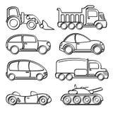 O transporte brinca a coleção ilustração do vetor