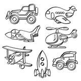 O transporte brinca a coleção ilustração royalty free