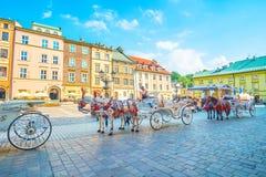 O transporte do turista em Krakow central, Polônia Imagem de Stock