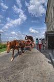 O transporte monta o Kremlin de Kazan Fotos de Stock