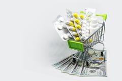 O tratamento e o seguro estão tornando-se mais caros imagens de stock royalty free