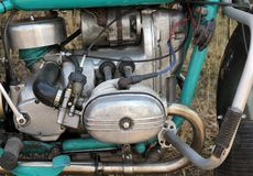 O trator novo do motor Máquina de semear Imagem de Stock