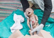 O treinamento de refresher para ajudar ao parto Fotografia de Stock Royalty Free