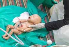 O treinamento de refresher para ajudar ao parto Imagens de Stock
