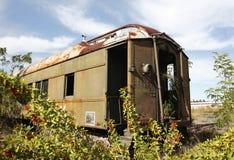 O trem abandonado Fotografia de Stock Royalty Free
