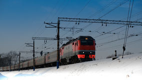 o trem chega 2 Foto de Stock