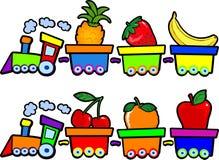 O trem das frutas Fotografia de Stock Royalty Free