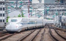 O trem de bala de Shinkansen Foto de Stock