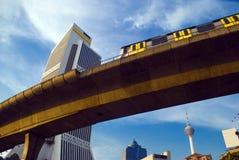 O trem de céu de Kuala Lumpur Foto de Stock