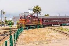 O trem de Califórnia em Fort Bragg Fotos de Stock
