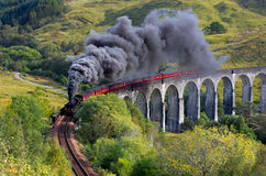 O trem de Jacobite Foto de Stock Royalty Free
