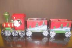 O trem de Papai Noel fotos de stock