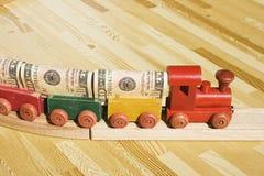 O trem do dinheiro Imagem de Stock Royalty Free