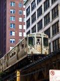 O trem do EL de Chicago Fotos de Stock