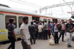 O trem em Bombaim Foto de Stock Royalty Free