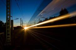 O trem expresso da noite Imagem de Stock