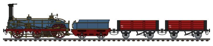 O trem histórico do vapor do frete ilustração do vetor