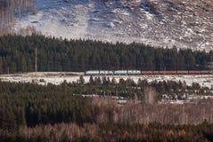 O trem nas montanhas Imagens de Stock Royalty Free