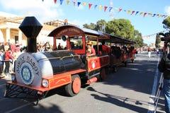 O trem no carnaval. Imagens de Stock Royalty Free